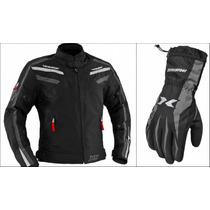 Jaqueta Motoqueiro Iron X11 E Luva Dry X11 100% Impermeável