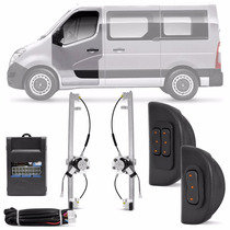 Kit Vidro Eletrico Renault Master 13 14 15 2p Sensor Furgão