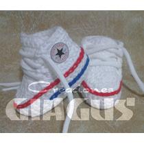Escarpines Zapatillas Crochet Bebe En Caja