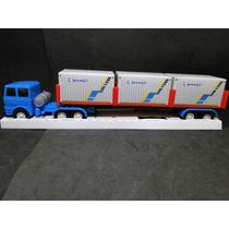 Caminhão Carreta Container 1/32 Comp.51cm Larg.08cm Alt.09