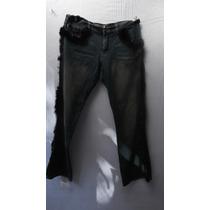 Jeans De Fantasia Crest Stretch T/12 34 Azul Con Peluche
