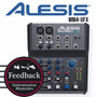 Alesis Mm4-ufx - Mixer Usb 4 Canales Con Phantom Power Y Fx
