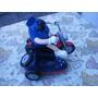 Moto Con Sidecar 20cm-totalmente De Plastico-de Coleccion