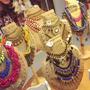 Portacollares Con Decoracion Rustica En Arpillera $150