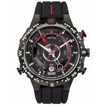 Relógio Timex Borracha Iq Compass, Tide, Temp. T2n720ww/tn