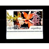 México Conserva Tipo 2 $10.50p Orquídeas Scott # 2268var