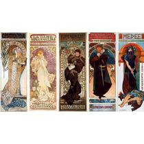 Lienzo Tela Art Deco Posters Obras Teatro Mucha 1899 50x90cm