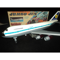Juguete Antiguo Avion Chapa Marca Doll Toys A Pilas Funciona