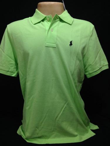 Camiseta Polo Ralph Lauren Verde Claro Cavalo Azul Tam M - R  109 842b2c01133