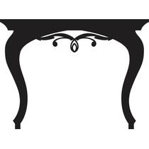 Adesivo Decorativo De Parede - Aparador Preto