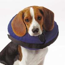 Collar Inflable Con Correa Perros Gatos Mediano Isabelino
