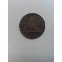 Rara Moeda De 2 Centavos Bélgica - 1876