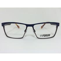 Armação Óculos Para Grau Forum Receituário Azul Com Bronze