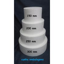 Base De Isopor 4 Andares Para Bolo Falso - 15,20,25 E 30 Cm