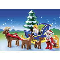 Playmobil 6787 Trineo De Santa Claus 1.2.3 Navidad Retromex