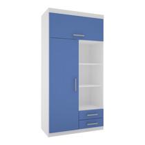 Placard Ropero Infantil Correderas Metálicas 90cm Blan/azul