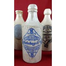 Antigua Botella Gres Cerveza Cerveceria Rothenburger Sello