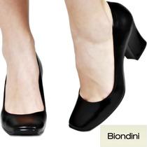 Sapato Boneca Biondini Couro Legítimo Salto Grosso Nº 37 38