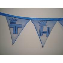 Banderines De Tela Personalizados Cumpleaños Bautismos 15