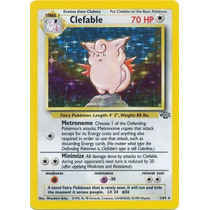Cartas Pokemon Clefable Holo Foil Jungla Near Mint