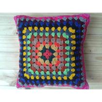 Almohadón Tejido Al Crochet Regalo Día De La Madre
