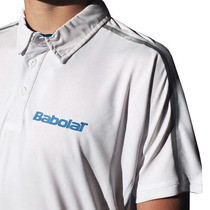 Remera Babolat Polo Competition (hombre) (blanco) /theroshop