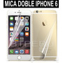 Mica Doble Iphone 6 Plus 6+ Trasera Delantera Transparente