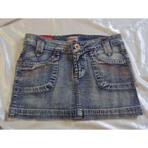 Mini Saia Jeans Feminino B 018 Tamanho 38