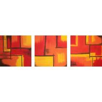 Cuadros Tripticos Modernos - Bastidores De Tela -130 X 40 Cm
