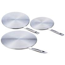 3 Adaptadores Universales Ollas Sarten Cocinas Inducción Kit