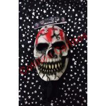 Máscara De Latex Calavera Sangrienta Terror