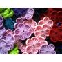 1 Docena Flores De Tela Para Lazos, Cintillos De Niñas Bebes