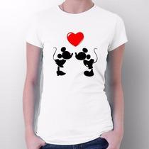 Camiseta Mickey E Minnie Casal - Envio Para Todo Brasil