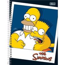 Caderno Espiral Simpsons Capa Dura 16mat 320folhas Promoção!