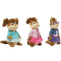 Pelucia Alvin E Os Esquilos 3 Original Bbr - Coleção Menina