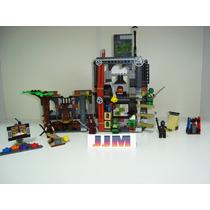 Tartarugas Ninjas Turtle Lair Attack Playset Lego Compatível