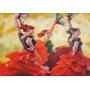 Baile Danza Trajes De España Flamenco - Lámina 45x30 Cm.