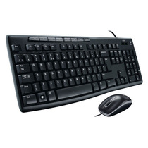 Teclado Y Mouse Media Combo Mk200 Alámbrico Usb