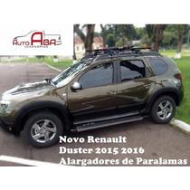Alargadores De Paralamas Renault Nova Duster 2015 2016 Preto