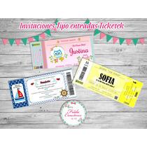 15 Invitaciones Ticketek Cumpleaños Infantiles 15 18 Años