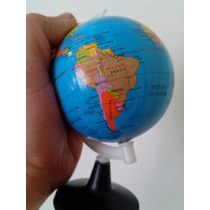 Globo Terrestre Gira Escolar Mapa Atlas Planeta Pequeno