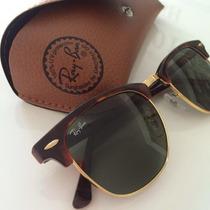 Óculos Ray-ban Original Clubmaster Rb3016 Tartaruga G15