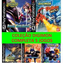 Emulado Digimon Coleção Completa 5 Games Ps1 Ou Pc Exclusivo