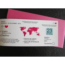 25 Invitaciones Tarjetas De Casamiento, 15 Años, Bautismo