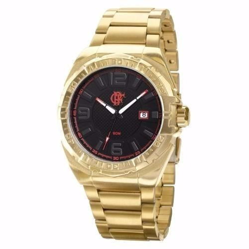 d3b60bdf5b4 Relógio Technos Flamengo Dourado Fla2315ac 4p - Muito Lindo! - R ...