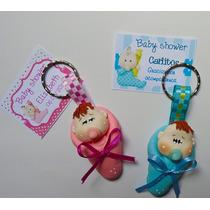 10 Llaveros Economicos Recuerdo Baby Shower Bautizo En Pasta
