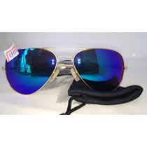 Óculos Unissex Lentes Espelho Azuis Proteje Disfarça Olhos