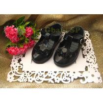 Sapato Sapatinho Social Infantil Menina Bebê - Preto Mod.02