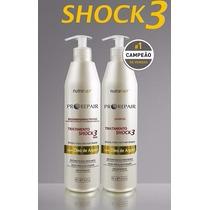 Kit Shock3 500ml. Shampoo + Regenerador Nutritivo Nutra Hair