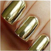 16 Adesivos Películas Para Unhas Dourado
